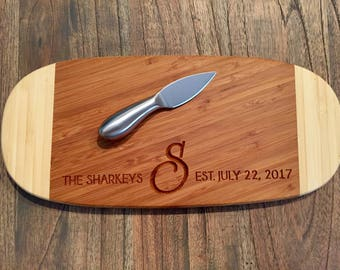 Personalized Cutting Board, Carved Cutting Board, Engraved Cutting Board, Cheese Tray, Custom Wedding Gift, Housewarming Gift, Serving Tray