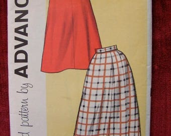 "ON SALE 35% OFF Vintage Advance Sewing Pattern 9402 Uncut Skirt 32"" Waist"