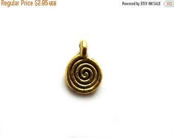 HALF PRICE 10 Gold Spiral Charms