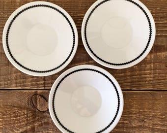 Vintage Set of 3 Potiron France Demitasse Saucers Bread & Butter Appetizer Tapas Dessert Plates