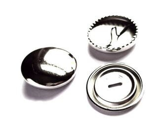 5 buttons 15 mm includes silver decoration