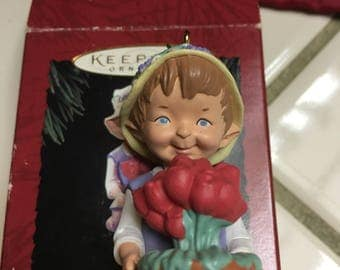 1994 vintage hallmark keepsake garden elves collection ornament in original box
