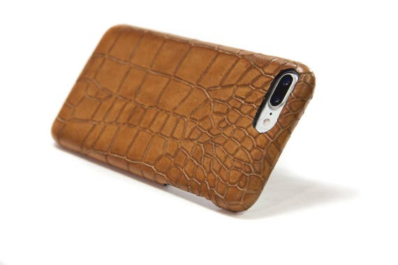 NEW iPhone Calf Leather Alligator Printed Case for New iPhone X and 8 and 8 Plus and 7 and 6s SE 5S and Samsung Galaxy choose Colors