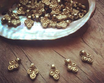 Charm Brass 5/10/20 PC Tribal brass charm 12 mm art supplies metal beads bohemian metal charm Antique Brass artofgoddess
