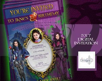 Disney Descendants Invitation