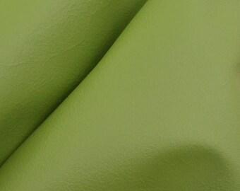 "Pacific Palm Green ""Bold & Beachy""  Leather Cow Hide 12"" x 12"" Pre-Cut 2-3 oz flat grain DE-57317 (Sec. 7,Shelf 3,B)"
