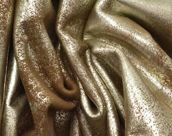 """Dark Brown Sugar """"Rock-n-Roll"""" 4.1 SF 2-2 1/2 oz Leather Cow Project Piece DE-66053 (Sec. 7,Shelf 1,B)"""