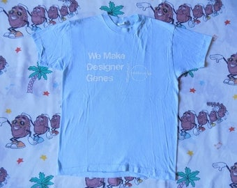 Vintage 80's We Make Designer Genes T shirt, size Small sooo soft Pharmaceutical promo