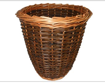 Make this Willow Wastepaper Basket: a weaving kit for complete beginners