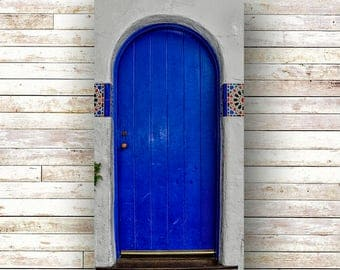 LOVE IS BLUE - California Art - Architecture - Door Photography - Carmel by the Sea - Wood Panel - Art Panels - Carmel - 17 Mile Drive