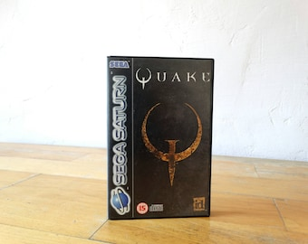 Quake, Sega Saturn Game, Video Game, Sega Saturn Console, Sega Video Game, Sega Console Game, Old Console Game, Sega Saturn Disc, Sega