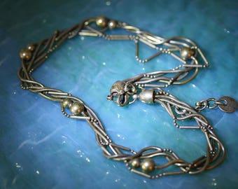 Early Ermani Bulatti Multi Strand Vintage Necklace