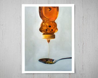 Spilled Honey - Fine Art Oil Painting Archival Giclee Print Decor by Artist Lauren Pretorius