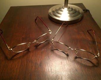 PAIR of Older Wire Frame Glasses -- Might Be Prescription