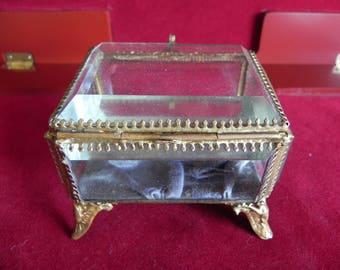 vintage glass jewelry box