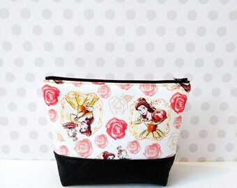 20%OFF Large Makeup Pouch / Princess Belle in White