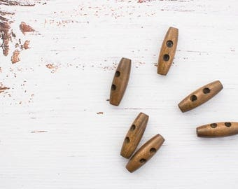 Wooden Toggle button - toffee