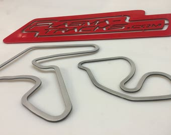 Race Track Wall Art.  4 to 12 inch. North American Road Racing Circuits