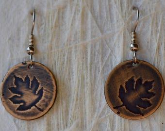 Autumn Leaf Earrings Lasts
