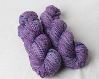 Unique speckled yarn - Tough & Tender base - Targhee/Nylon Sock yarn