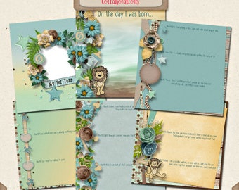 Digital Scrapbooking, Journaling Pages, Quick Page Stacker Album, Baby Album: You're My Lil' Boy