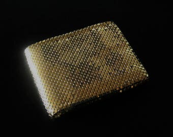 Vintage WHITING & DAVIS Mesh-Mates Wallet/Coin Purse/Credit Card Holder - Beautiful!   Made in USA