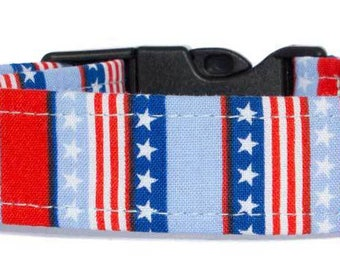 Noddy & Sweets Adjustable Clasp Collar with Charm [Stars and Stripes]