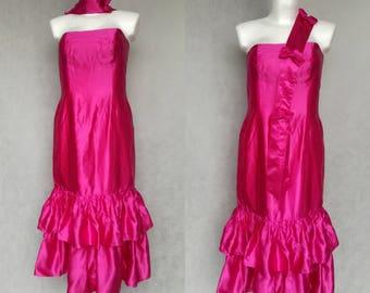 Hot Pink Lame Dress