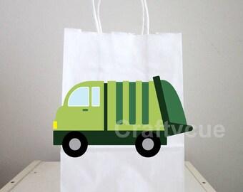 Garbage Truck Goody Bags, Garbage Truck Favor Bags, Garbage Truck Party Favors, Garbage Truck Decorations