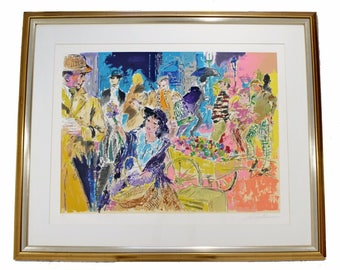 Mid Century Modern Leroy Neiman Litho Signed Numbered 1/300 My Fair Lady Framed