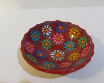 colorful floral bowl