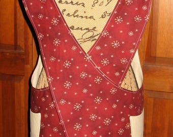 Cross Back apron - Small/Medium fully lined or reversible