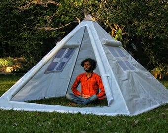 Giza Aluminium Meditation Pyramid 8 feet lite wight with tent