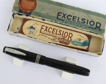 Vintage French BAYARD EXCELSIOR Fountain Pen and box
