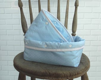 Nursery Storage Baskets | Blue | Set of 2 | Small nursery storage