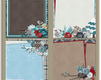 ON SALE NOW 65% off Winter Frost Digital Scrapbook Layered Papers