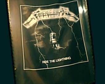 1991 Metallica Ride The Lightning Silk Flag, 42 X 45, XXL, 91 Metallica Flag, 1991 Vintage Metallica Authentic Lightning Banner Poster