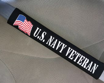 US Military Navy Veteran Seat Belt Cover