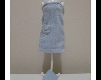 Barbie Doll Clothing blue robe pyjama with matching towel fits all dolls including curvy dolls