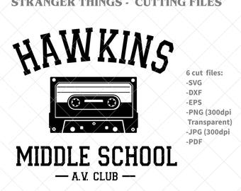 Stranger things SVG, Hawkins Middle School svg,, Stranger Things sweatshirt, Black svg, png, svg files for cricut, svg file, cut files, svg