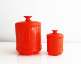 High Quality Orange Canister Set, Orange Canisters Plastic Canister Set, Orange Kitchen  Canisters, Retro Kitchen