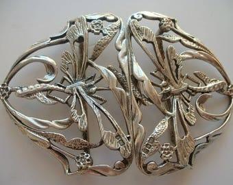 Bulgari Ltd H/M silver dragonfly belt buckle