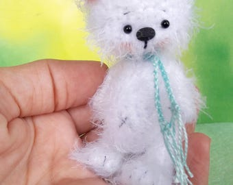 3 inches miniature Teddy bear, Blythe friend artist teddy bears miniature teddy bear Blythe friend toy crochet teddy bear ooak teddy bear