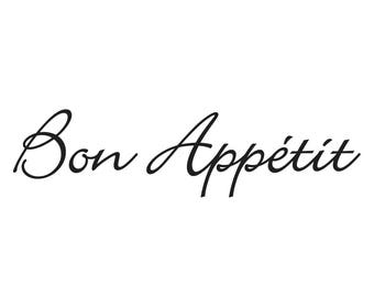 Bon Appetit type 2 wall Decal