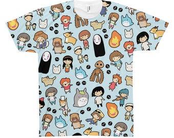 Studio Ghibli All Over Print TShirt