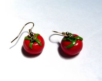 Delicious earrings, small tomatoes