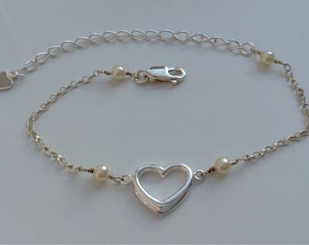Swarovski pearl and sterling silver bracelet
