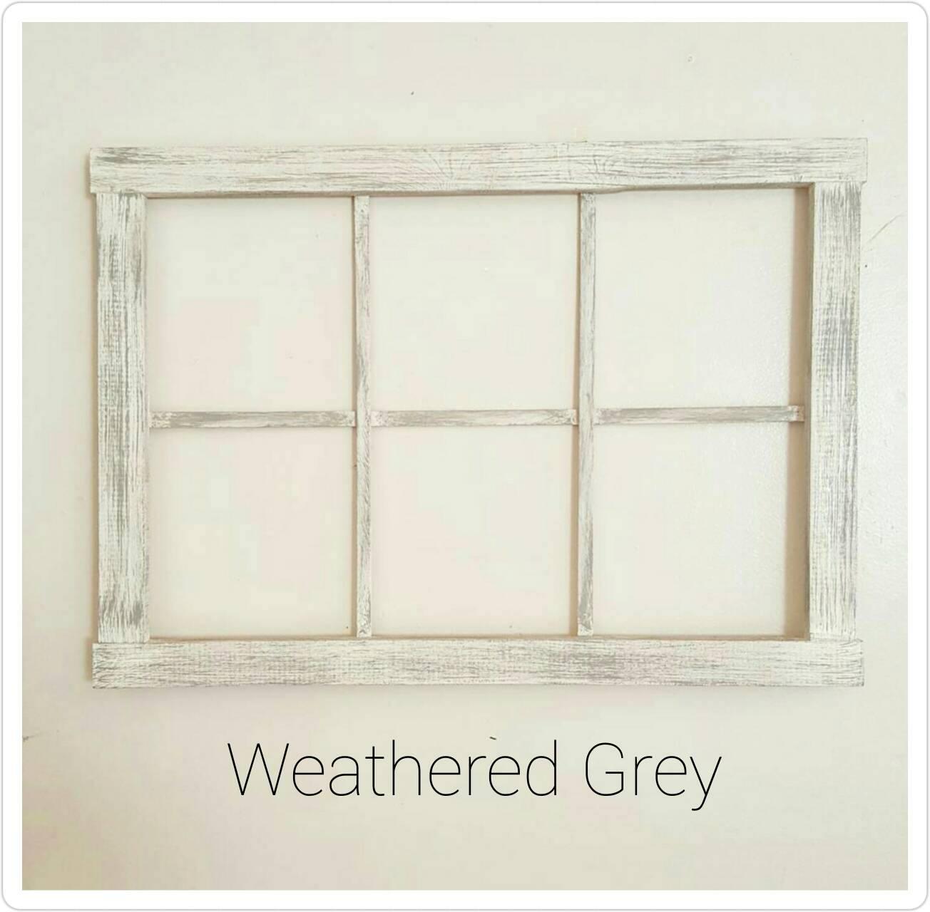 Faux Window Art : Pane faux window frame