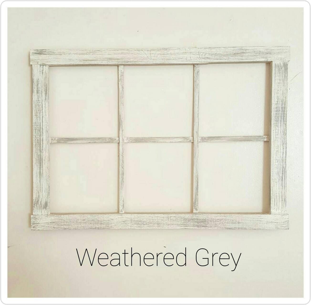 Rustic Window Frame Wall Decor : Faux window frame rustic