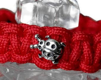 Red Thread Ladybug Bracelet, Ladybug Paracord Bracelet, Red Bracelet, China Adoption Red Thread, Lucky Bracelet, China Adoption, China Adopt